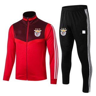 19-20 season Top Quality Benfica High Collar Red Jersey jacket Training Suit Top And Pants Suit