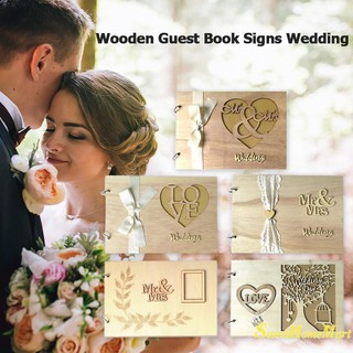 SweetWedding GuestBook Wooden Wedding Guest Book wedding tree Personalised Guest Book 20pcs