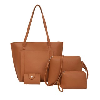 Women 's bag - combo - tote bag, sling bag, pouch and card holder (4pcs)