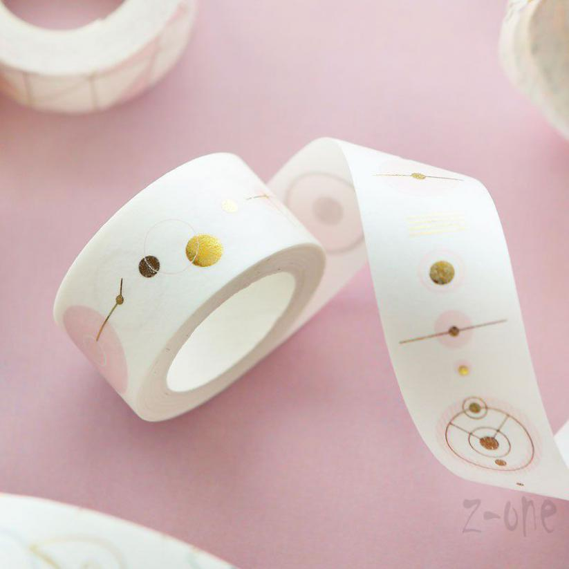 ZONE Pink Foil Paper Washi Tape Kawaii Stationery Scrapbooking Tapes Decorative