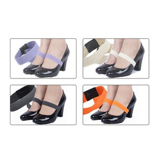 2Pcs Elastic Foot Care Shoe Strap Band For Holding Loose High Heel Shoes Decor