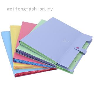 weifengfashion 16 Colors Creative Multilayer Stationery File Folder  A4 Document Bag for Office