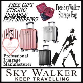 [M'sia] SKY WALKER Ready Stock Premium High Quality Travel ABS Luggage Free Gift Mix LSW1