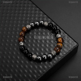 TimeHee black matte stone tiger eye excellent jewelry matte agate energy stone bracelet