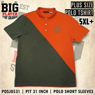 5XL+ [PIT 31 INCH] | POLO SHIRT S/S | PLUS SIZE | POSJ0531