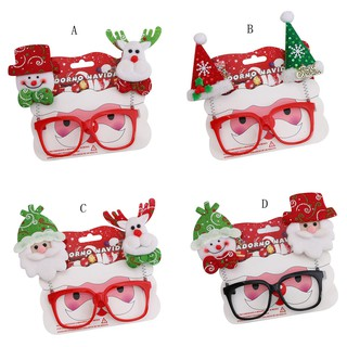 Christmas Glasses Frame Xmas Decoration Novelty Fancy Dress Santa Snowman Xmas