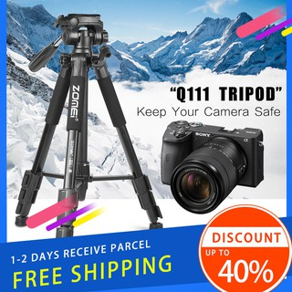ITEM READY STOCK Zomei Q111 Portable Camera Travel Tripod Lightweight Stand for DSLR Mirrorless Camera