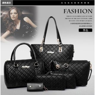 6-In-1 M&G Women European Design PU Leather Handbag Set - 3 Colors Available