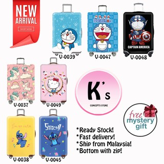 New Arrival!!! Cutie Doraemon/Stitch/Hello Kitty Elastic Luggage Covers Luggage Suitcase Covers