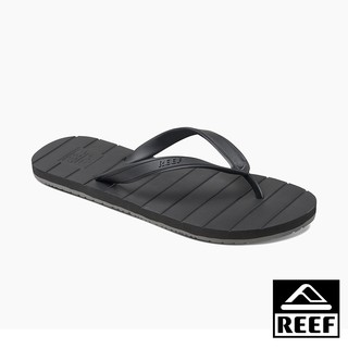 Reef Plain Basic Rubber Men Clip Foot Flip Flops - Black