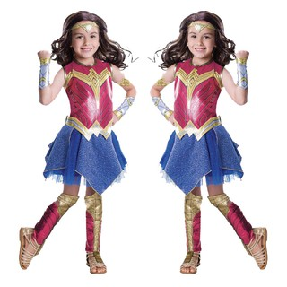Child Dawn of Justice Wonder Woman Fancy Dress Cosplay Girls Superman Wonder Woman Supergirl Halloween Costume for Kids