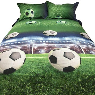 Hot Free Shipping Football Bed Sheets 3D Bedding Sets Quilt Duvet Cover Bed in A Leaf Of Bag Spread BedsPread Bedset Pillowcase Queen Size Double