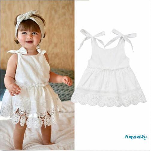 Jry₪US Toddler Baby Girls Sleeveless Lace Skirt Sundress Outfit Summer Dress