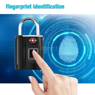 Smart Keyless Fingerprint Padlock  TSA Approved Lock Smart Keyless Finger Touch Biometric Unlock Waterproof for Travel