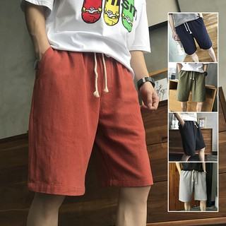 Summer Shorts new men's casual pants loose five Japanese retro thin 5 pants tren