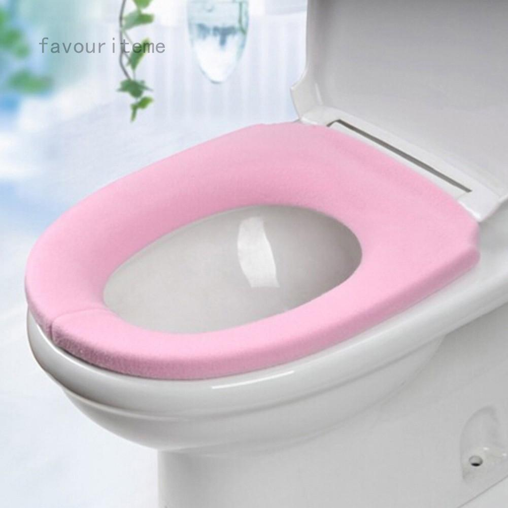 favouriteme Warm Toilet Seat Cover for Bath Products Pedestal Pan Pads Lycra Use As Toilet o