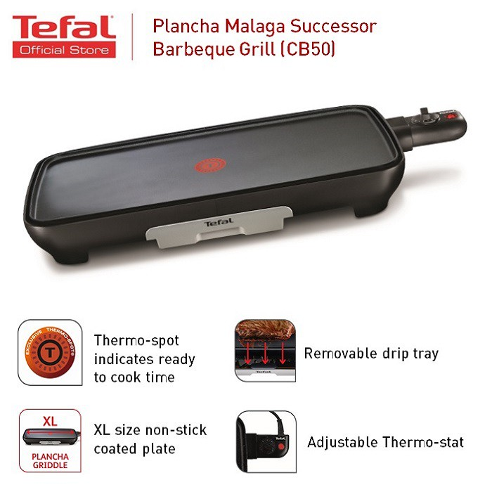 [Exclusive on Shopee] Tefal Plancha Malaga Sucessor CB503865