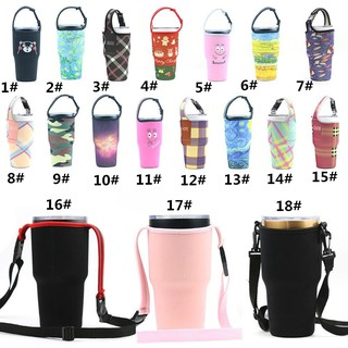 【READY STOCK】New Silicone Outdoor Travel Water Bottle Sports Bag Ice Cup Set Sleeve Bott