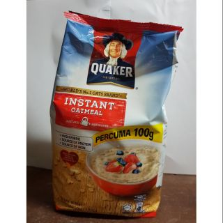 QUAKER INSTANT OATMEAL (RED) 900g