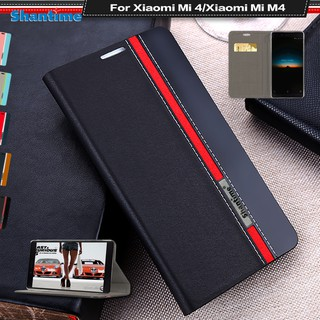 For Xiaomi Mi 4 Vintage Colour stitching leather Case Book case With Card Slot