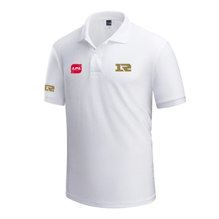 ▲Men''s lapel RNG team finals cotton half sleeve shirt