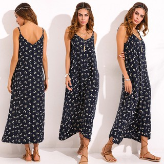 UK 8-24 Womens Floral Printed V Neck Beach Holiday Long Maxi Dress Kaftan Plus