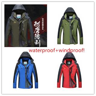 Waterproof and windproof outdoor rush clothes autumn dress men's sports cap jacket