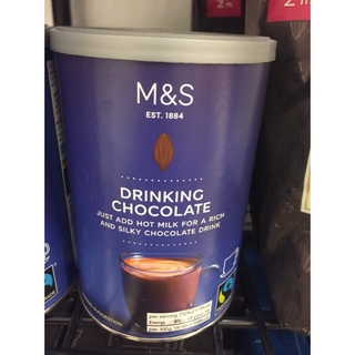 Marks & Spencer Drinking Chocolate/ M&S Hot Chocolate/ 英国玛莎巧克力饮料