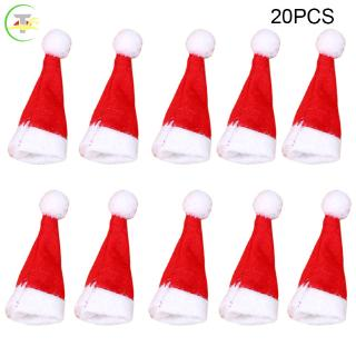 TG 20pcs Lollipop Christmas Hat Small Mini Candy Santa Claus Cap Decoration Party @my