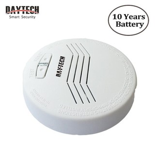 DAYTECH Wireless Smoke Detector 10 Years Battery Fire Alarm 80dB Sound Compatible For Daytech GSM Alarm System (SM07-1)