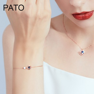 Sterling silver bracelet with female ins niche minimalist design Japanese LDR hand act the role of valentine''s day, bi