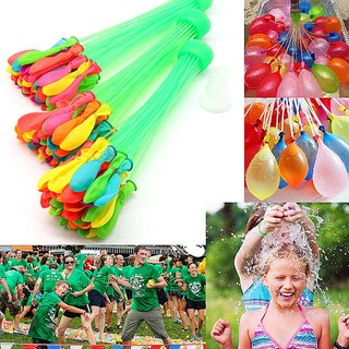 READY STOCK Mixed Color Magic Water Balloons Self Tying Bunch O Balloon Bombs Outdoor Party Toys / Belon Air