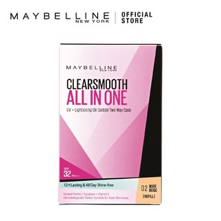 Maybelline Clear Smooth All in One UV Lightening Oil Control TWC Refill
