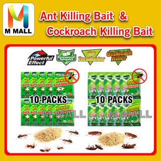 POWDER ANT / COCKROACH KILLER ( 10 PACKS ) KILLING BAIT