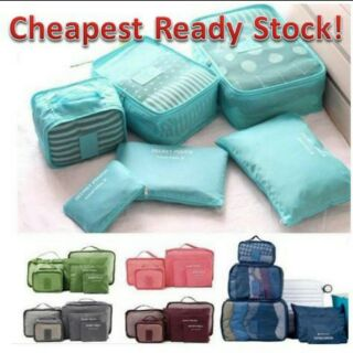 🔥🔥JMALL 6 in 1 ORGANIZER Travel Bag Pouch Packing Cube 6 in 1 Organizer Travel