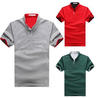 Lelaki Polo Pendek Sleeve Shirt Plain Golf Top Summer Casual Slim Fit T-Shirt