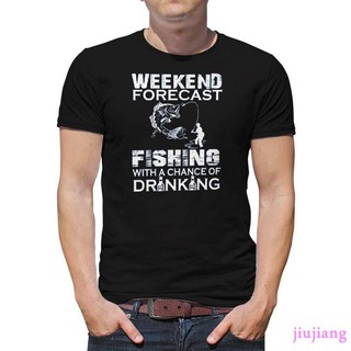 Weekend Forecast Fishing With a Chance of Drinking Men Casual T-Shirt