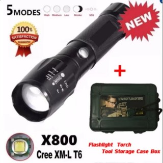 🌟Local Seller 🌟 USA CREE T6 LED Torch Rechargeable Flashlight 5 Mode Outdoor Powerful LED Flashlight