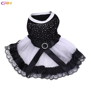 Pet Dog Puppy Clothes Doggy Dresses Elegant Spring Summer Clothing Party Wear