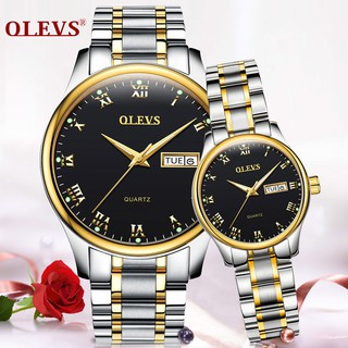 Couple Watches Stainless Steel Roman Numerals Watch Men Lovers Watch Ladies Date Jam Tangan Couple Watch Jamtanganlelaki