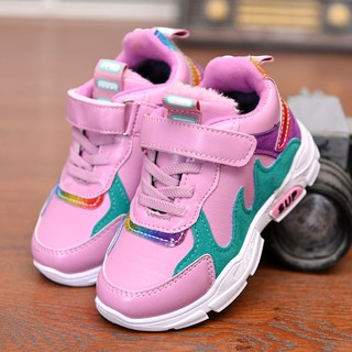 Disney's official website early winter children's sports shoes autumn and winter casual children's shoes casual plus vel
