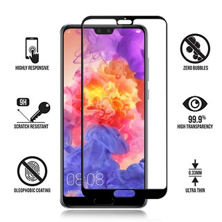 HUAWEI P20 FULL COVER COLOR TEMPERED GLASS SCREEN PROTECTOR