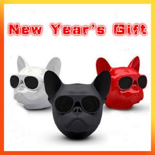 Wireless Speaker Bulldog Bluetooth Speaker Portable Dog Subwoofer Multipurpose Computer PC Speaker MP3 Player FM Radio