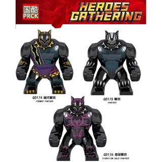 Mini GD174-176 Adult Series minifigures Compatible with LEGO Single sale Super Hero Assembled Black Panther Kids