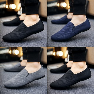 READY STOCK!Fashion Men's Casual Loafers Korean Breathable Peas Shoes Men's Shoes Lazy Shoes Driving shoes sports shoes