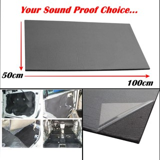 Car SoundProof 100x50cm Sound Proofing Sound Proof Deadening Deadener Insulation Heat Shield Foam Mat Carpet 10mm 5mm