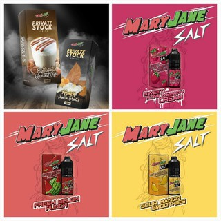 Mary Jane Salt Fresh Melon Puch/Sour Mango Smoothie/Strawberry Cream Ejuice 10ml