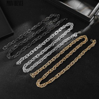 Providence Hip-Hop Men Twisted Long Chain Necklace Party Club Street Decor Jewelry Gift