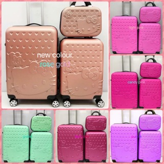 🔥hello kitty luggage🔥3in1🔥2in1🔥set travel ABS suitcase 12inch 20inch 24inch""