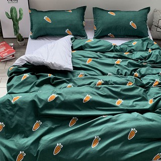 ⊕Ins web celebrity style cartoon matcha green frog sheet bedding bag dormitory bunk bed 4 is a three-piece
